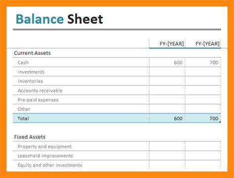 Basic Balance Sheet Template 9 simple balance sheet excel graphic resume