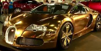 All Gold Bugatti Flo Rida Wraps His Bugatti Veyron In Gold Stuff Co Nz