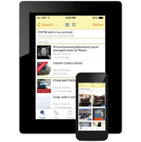 kijiji mobile app kijiji canada mobile app ebay classifieds