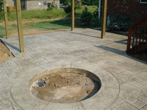 sun buff sted concrete patio w pit