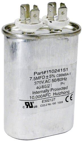 check capacitor on heat onlinepoolshop hayward hpx11024151 7 1 2 uf fan run capacitor replacement for hayward