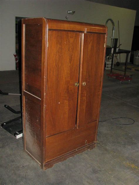 Wardrobe Closet Armoire by Vintage Antique Wood Armoire Wardrobe Ebay