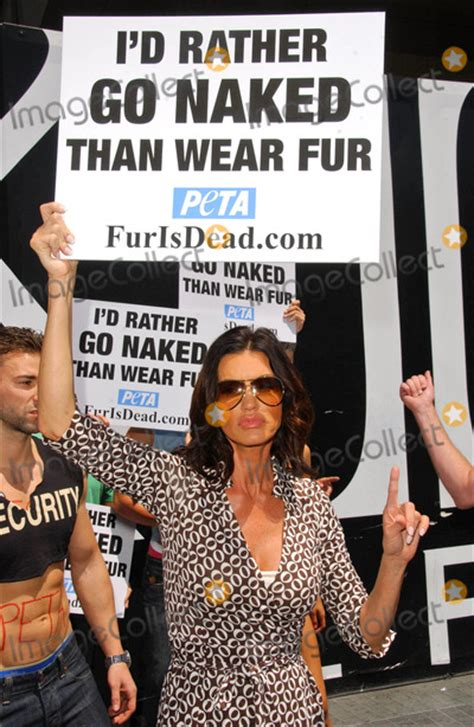 Janice Dickinsons Models Id Rather Go Than Wear Fur by Photos And Pictures Models With The Janice Dickinson