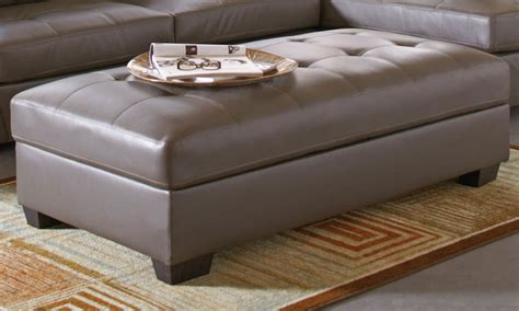 grey leather storage ottoman joaquin grey leather storage ottoman contemporary