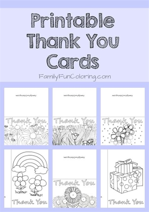 easy thank you card template kindergarten printable thank you cards to color familyfuncoloring