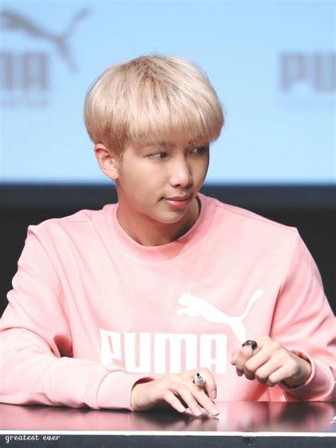 kim namjoon pink 171019 rapmonster puma fansign kim