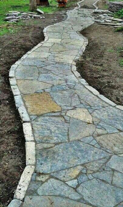 Design Ideas For Flagstone Walkways 1773 Best Images About Walkway Ideas On Pinterest
