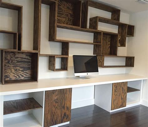built in wall desk custom built desk and wall unit our furniture