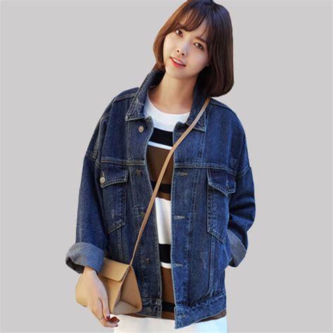 Jaket Wash Koreanstyle 2016 new korean denim jacket large size casual jackets