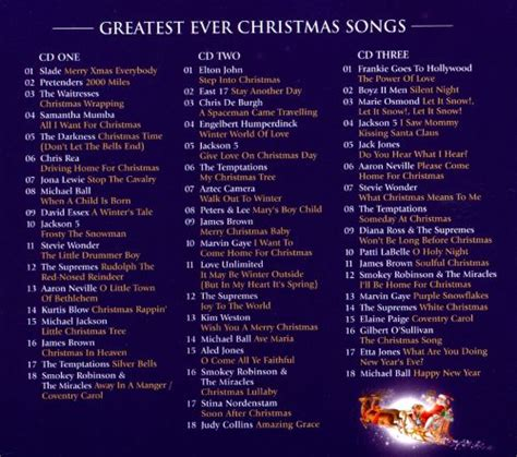 greatest ever christmas songs the definitive collection