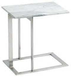 Modern Side Table Dell Side Table White Brown Modern Side Tables And End Tables By Inmod