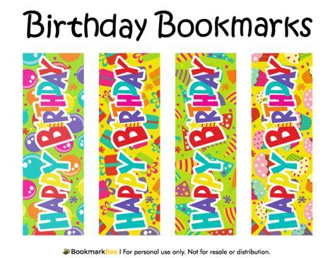 Printable Birthday Bookmarks | printable birthday bookmarks