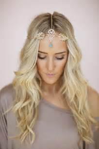 gold headpiece gold leaf headpiece chain headband turquoise boho bead bohemian chain headband headpiece