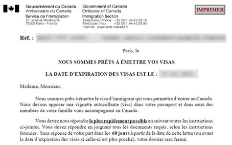 Lettre De Motivation Pour Visa Canada Exemple Attestation De Travail Immigration Document