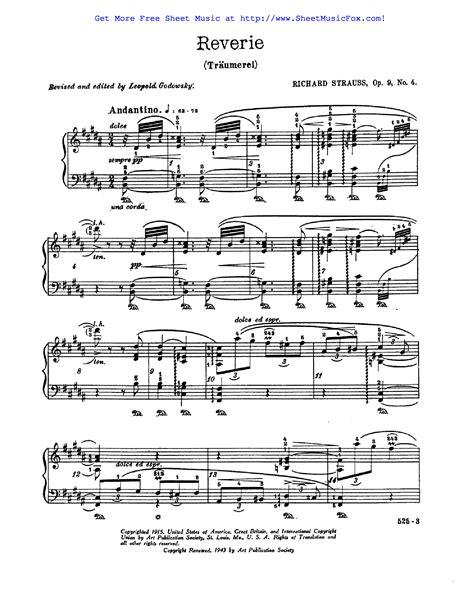 Free Sheet Music For Stimmungsbilder Op 9 Strauss