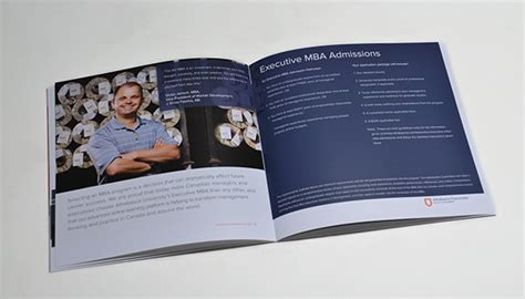 Athabasca Mba Admission by Athabasca Faculty Of Business Mba Brochure On