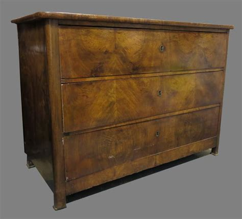 Antique Dresser Drawers by Antique Burl Dresser With Three Drawers For Sale At Pamono