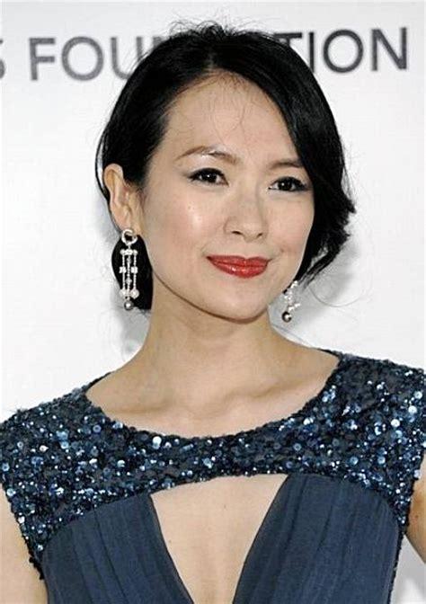 ziyi thin hair zhang ziyi s low chignon hairstyle prom wedding formal