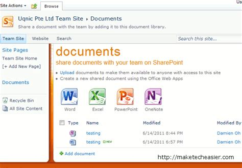 Office 365 Team Site Microsoft Office 365 Beta Review