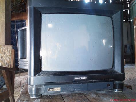 Tv Polytron Warna Putih aisy tv polytron jadul dm 1485 gambar putih polos tanpa osd
