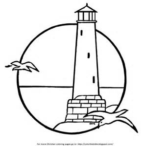 lighthouse coloring page a lighthouse coloring page color the bible