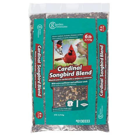 shop garden treasures cardinal songbird 6 lb bird seed bag