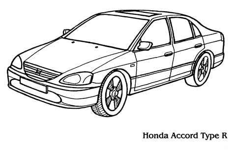 coloring pages honda cars coloring page honda accord