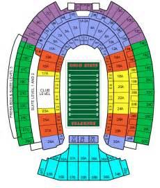 Ohio State Stadium Map by Ohio Stadium Football Seating Chart Ohio Stadium