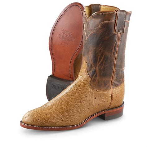 smooth ostrich boots s justin 174 smooth ostrich western boots antique