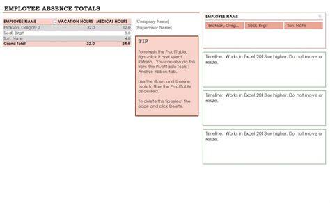employee absence template employee absence schedule calendar template 2016