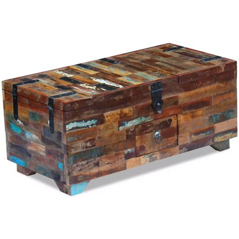 Coffee Table Boxes Vidaxl Coffee Table Box Chest Solid Reclaimed Wood 80x40x35 Cm Vidaxl Co Uk