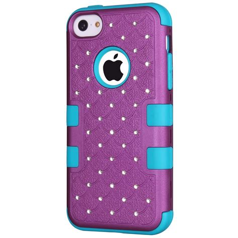 iphone 5c cases majesticase 174 iphone 5c bling crystals total protection soft cover ebay