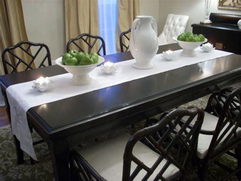 Ballard Designs Drapes black bamboo chairs asian dining room benjamin moore