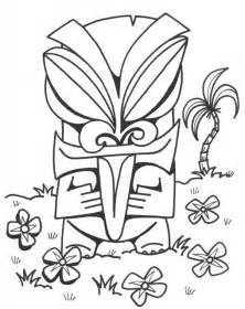 tiki coloring pages bestofcoloring com