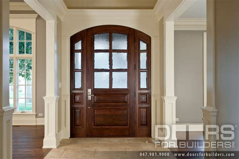 Wood Glass Front Door Classic Collection Solid Wood Entry Door True Divided Privacy Glue Chip Glass Wood Front