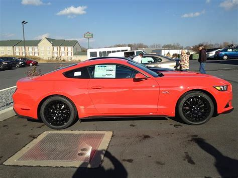 21742 Black Stripe competition orange the mustang source ford mustang forums