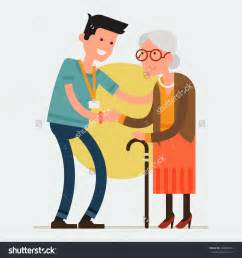 White Stick Blind Helping Old People Clipart Clipartsgram Com