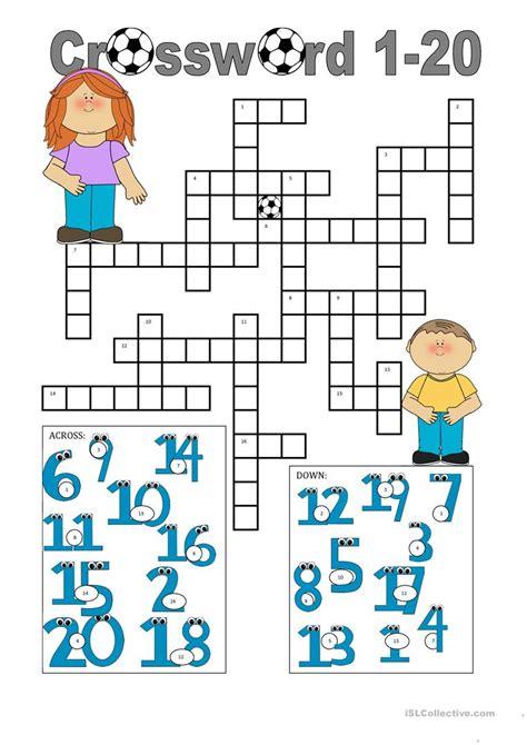 esl printables numbers 1 20 crossword 1 20 worksheet free esl printable worksheets