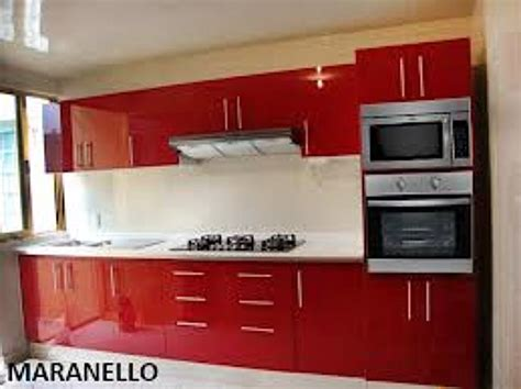imagenes de cocinas integrales rojas foto cocina roja en poliuretano de decoraciones y