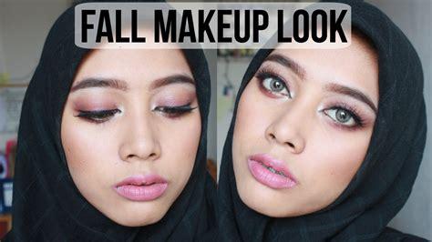 Eyeshadow Inez Coklat fall burgundy makeup look tutorial daranitya by dara nitya