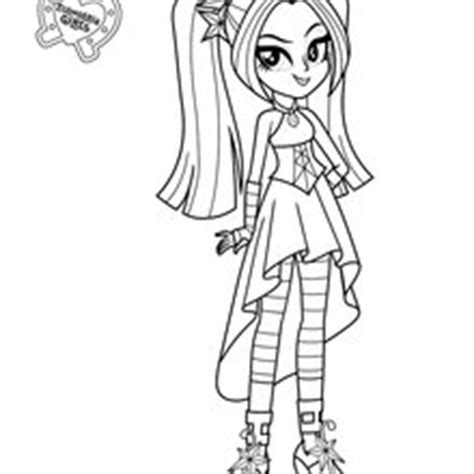 my little pony sirens coloring pages aria blaze coloring pages hellokids com