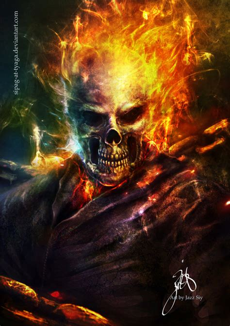 spray paint ghost rider the ghost rider by jazzsiyart on deviantart