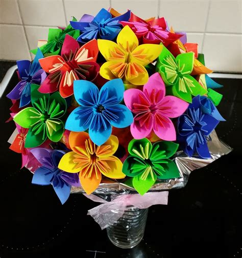 How To Make Origami Bouquet Of Flowers - origami flowers bouquet flowers ideas for review