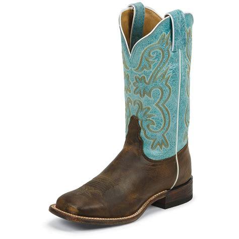 teal cowboy boots s tony lama 174 12 quot americana goat western boots teal