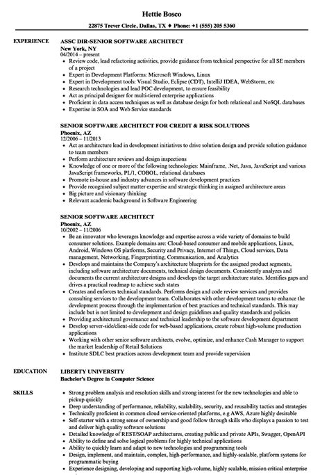 Software Architect Resume by Senior Software Architect Resume Sles Velvet