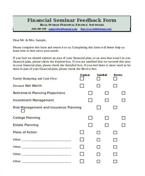 personal feedback form template 8 sle seminar feedback forms free documents in word pdf