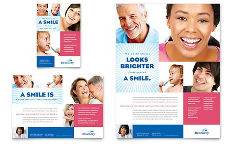 family dentistry flyer ad template design