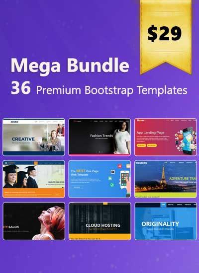 bootstrap themes bundle free website templates and bootstrap themes webthemez