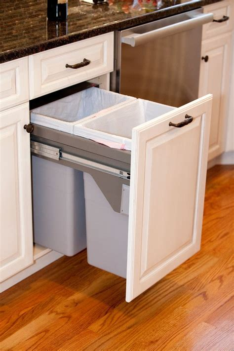 Recycling Cabinets Kitchen Best 25 Kitchen Trash Cans Ideas On Trash Can Trash Can Cabinet And Tilt