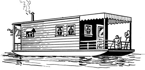 house boat drawing picture file houseboat 002 png the work of god s children
